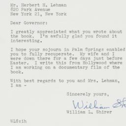 Letter : 1961 April 7