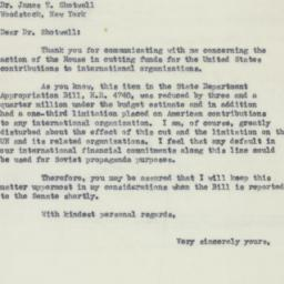 Letter : 1951 August 7