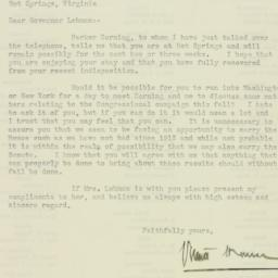 Letter : 1930 July 17