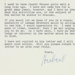 Letter : 1961 May 19