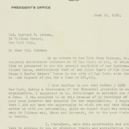 Letter : 1928 June 12