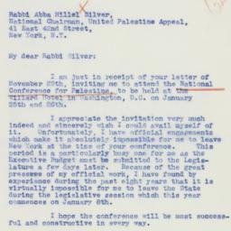 Letter : 1940 December 7