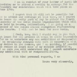 Letter : 1951 April 26