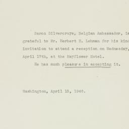Note : 1946 April 15