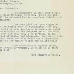 Letter : 1954 May 23