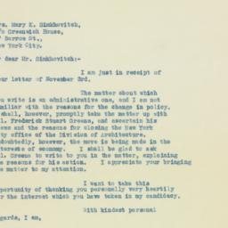 Letter : 1932 November 5
