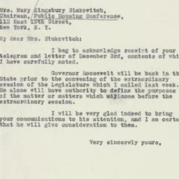 Letter : 1932 December 5