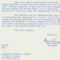 Letter : 1958 August 18