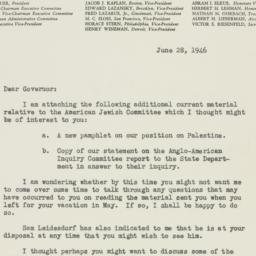 Letter : 1946 June 28