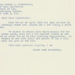 Letter : 1947 April 25