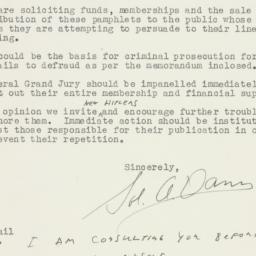 Letter : 1948 February 18
