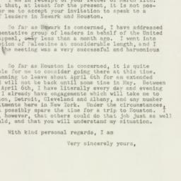 Letter : 1948 March 15