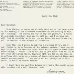 Letter : 1948 April 21