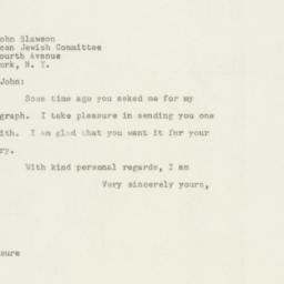 Letter : 1948 May 7