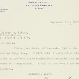 Letter : 1925 September 2