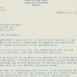 Letter : 1925 October 2