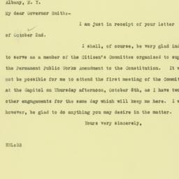 Letter: 1925 October 3