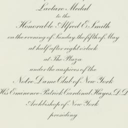 Invitation: 1930 May 5