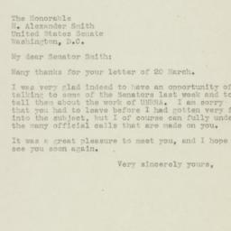 Letter : 1945 March 22