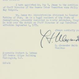 Letter : 1953 October 26