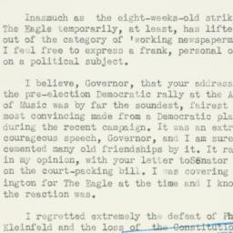 Letter: 1937 November 4