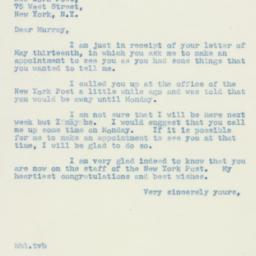 Letter: 1940 May 18