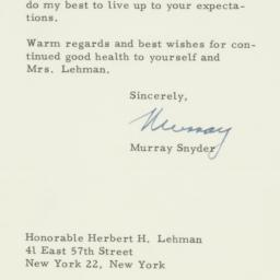 Letter : 1957 March 4