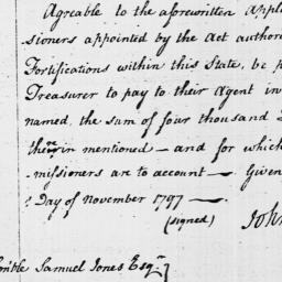 Document, 1797 November 01