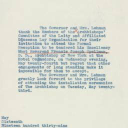 Letter : 1939 May 16