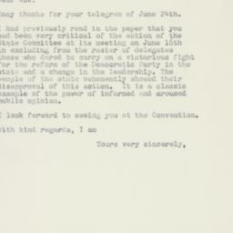Letter : 1960 June 29