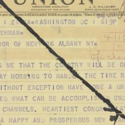 Telegram : 1942 January 1