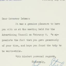 Letter : 1949 February 15