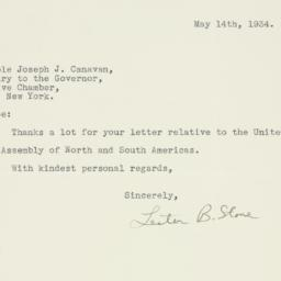 Letter : 1934 May 14