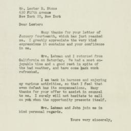 Letter : 1947 January 16