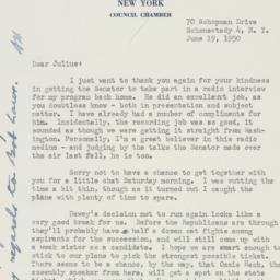 Letter : 1950 June 19