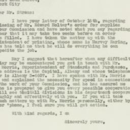 Letter : 1931 October 19