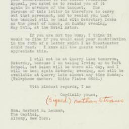 Letter : 1936 May 22