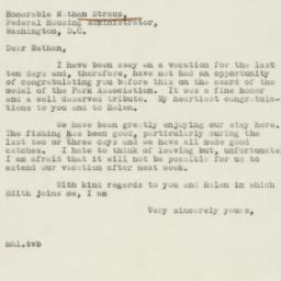 Letter : 1938 May 6