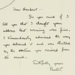 Letter : 1929 May 14