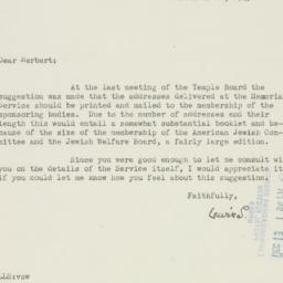 Letter : 1945 December 12