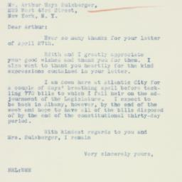 Letter : 1934 May 3