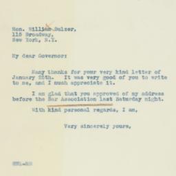 Letter : 1938 January 26