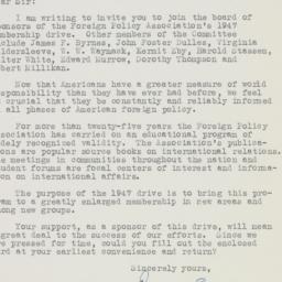 Letter : 1947 February 14