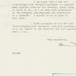 Letter : 1940 April 12