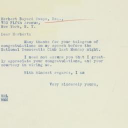 Letter : 1934 October 18