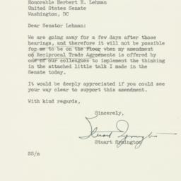 Letter : 1954 June 22