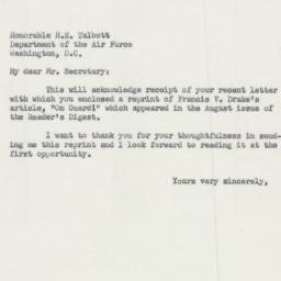 Letter : 1954 January 25