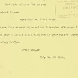 Telegram : 1942 December 28
