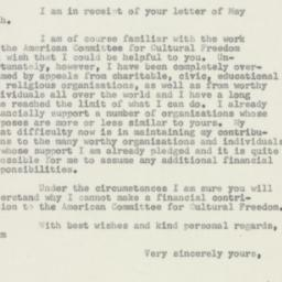 Letter : 1954 May 28