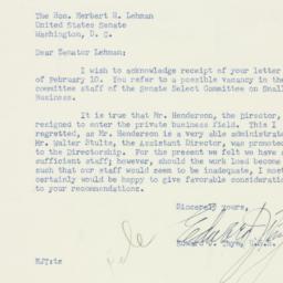 Letter : 1954 February 13
